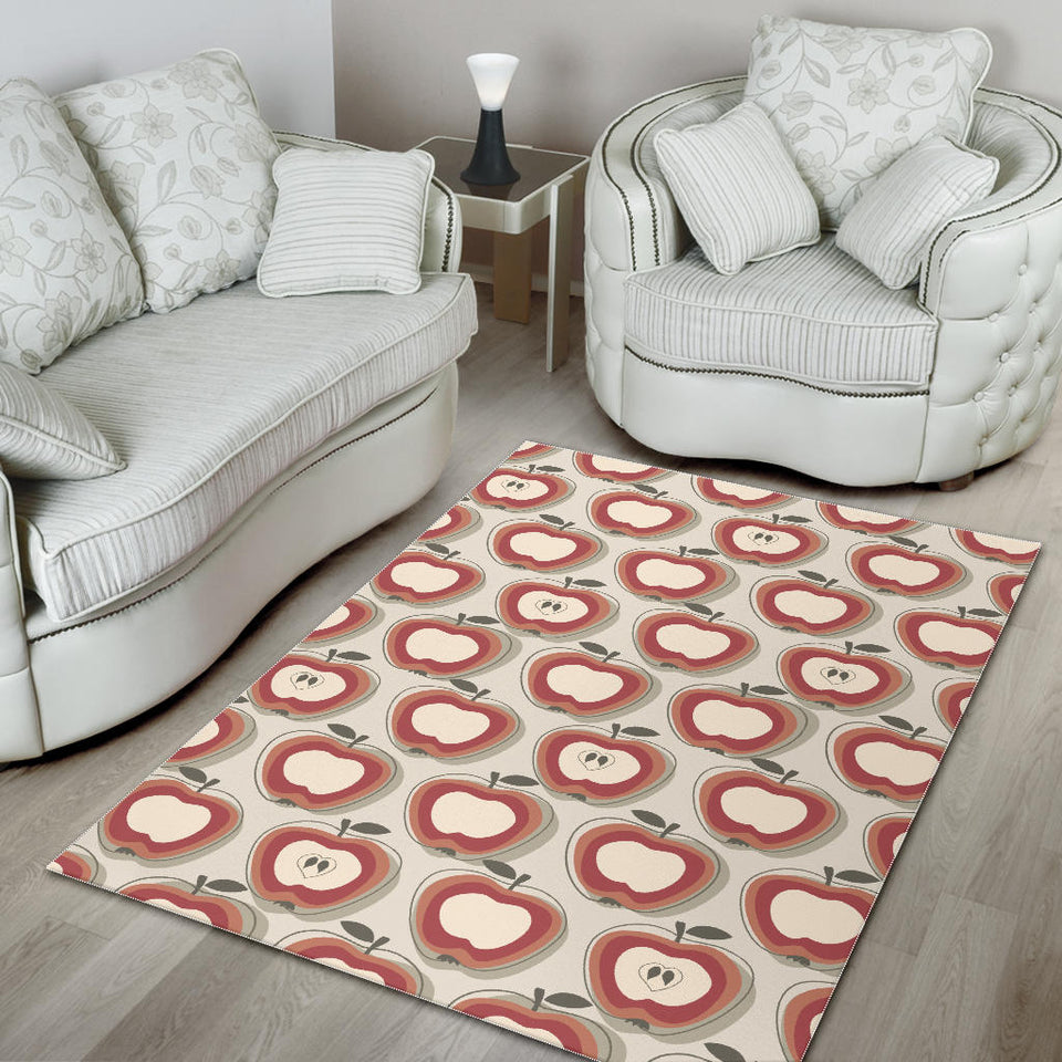 Red Apple Pattern Area Rug