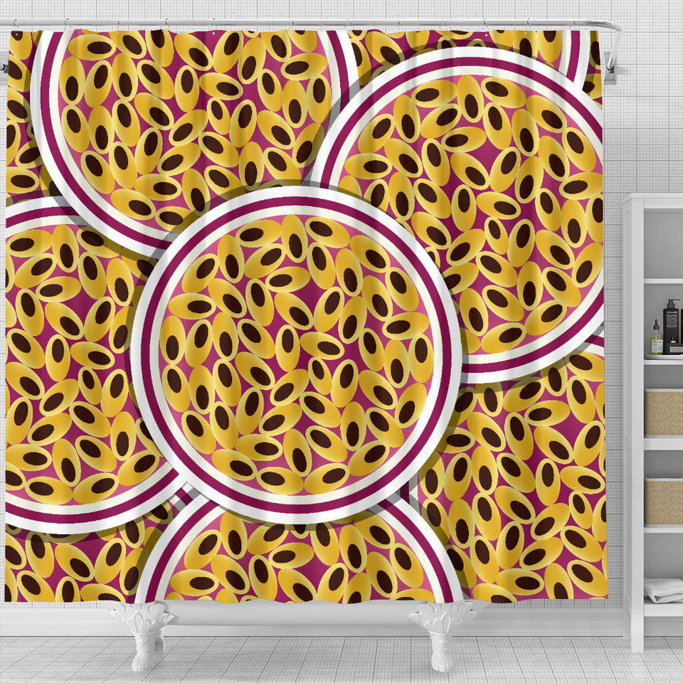 Passion Fruit Seed Pattern Shower Curtain Fulfilled In US