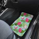 Dragon Fruit Leaves Pattern Front Car Mats