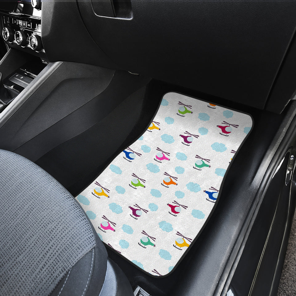 Helicopter Could Pattern Front Car Mats