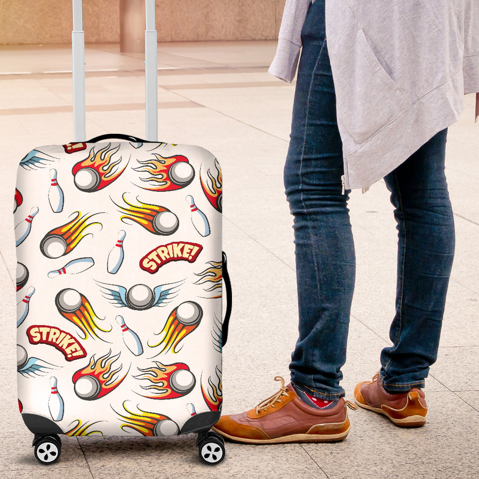 Bowling Strike Pattern Luggage Covers