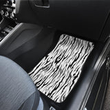 Gray Bengal Tiger Pattern Front Car Mats