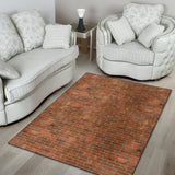 Brick Printed Pattern Print Design 04 Area Rug