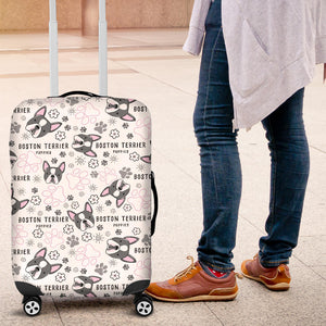 Boston Terrier Pattern Luggage Covers