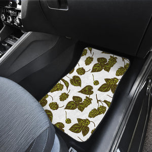 Hop Leaves Pattern Front Car Mats