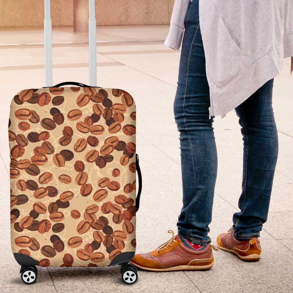 Coffee Bean Pattern Luggage Covers