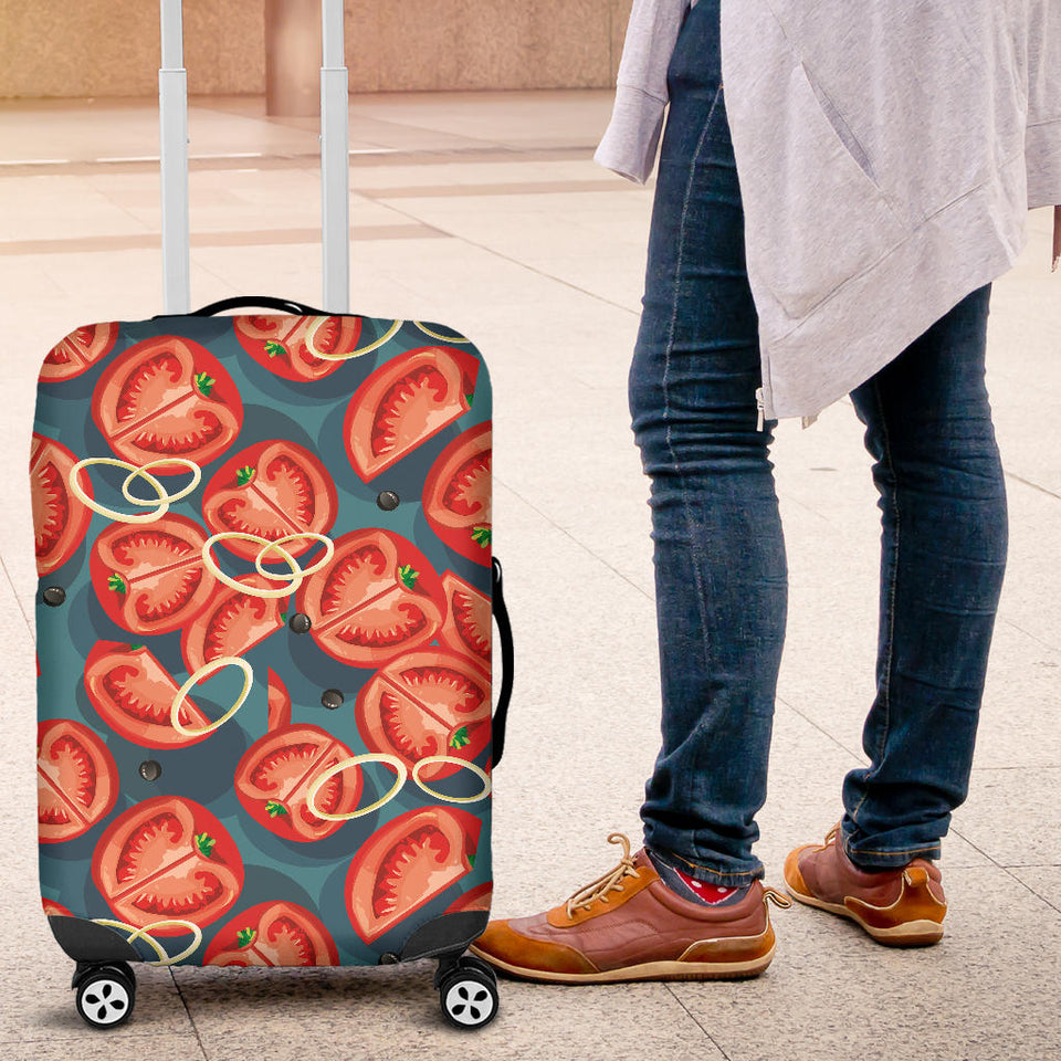 Tomato Pattern Background Luggage Covers