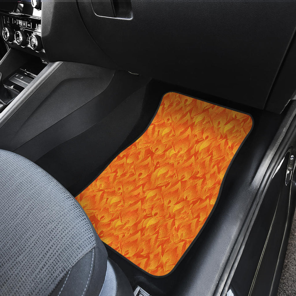 Red Flame Fire Pattern Front Car Mats
