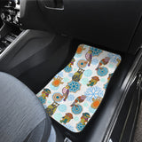 Owl Pattern Front Car Mats