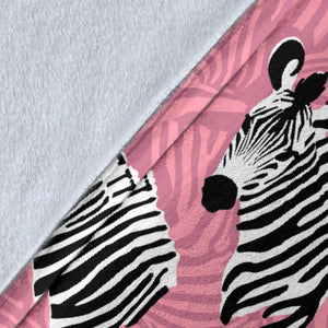 Zebra Head Pattern Premium Blanket