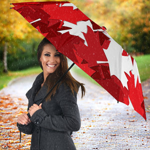 Canadian Maple Leaves Pattern Umbrella