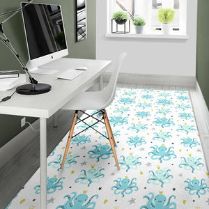 Octopus Blue Pattern Area Rug