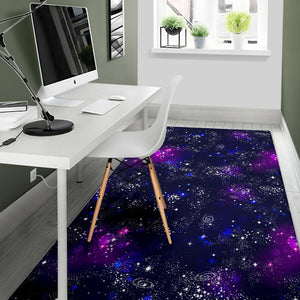 Space Galaxy Pattern Area Rug