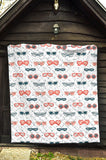 Sun Glasses Pattern Print Design 02 Premium Quilt