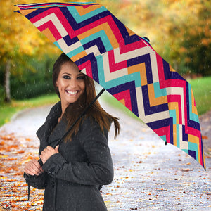 Zigzag Chevron Pattern Background Umbrella