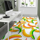 Banana Geometric Pattern Area Rug
