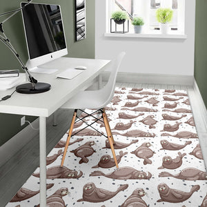 Sea Lion Pattern. Background Area Rug