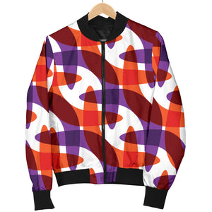 Boomerang Pattern Background Women Bomber Jacket