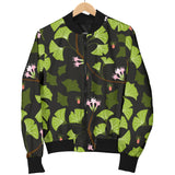 Ginkgo Leaves Flower Pattern Men Bomber Jacket