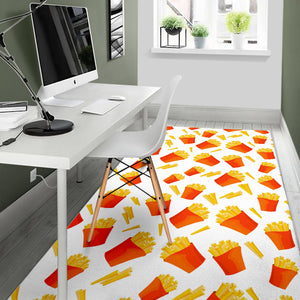 French Fries Pattern Area Rug