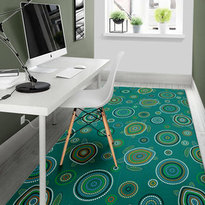 Sea Turtle Aboriginal Pattern Area Rug