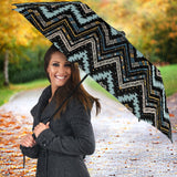 Zigzag Chevron African Afro Dashiki Adinkra Kente Umbrella
