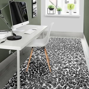 Gray Leopard Texture Pattern Area Rug