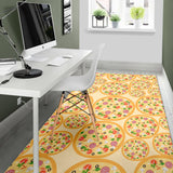 Pizza Theme Pattern Area Rug
