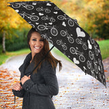 Bicycle Pattern Print Design 05 Umbrella