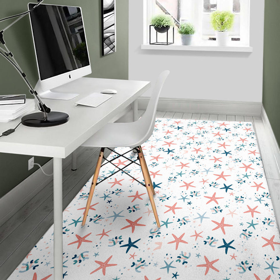 Starfish Pattern Background Area Rug