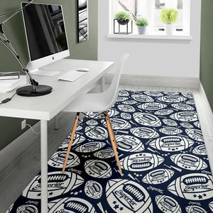 American Football Ball Pattern Area Rug