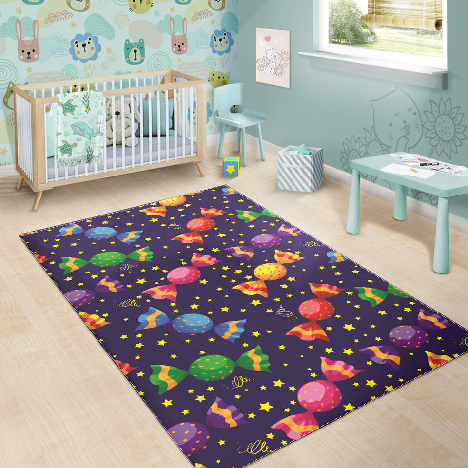 Candy Star Pattern Area Rug