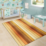 Wood Printed Pattern Print Design 01 Area Rug