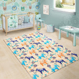 Cute Horse Pattern Area Rug
