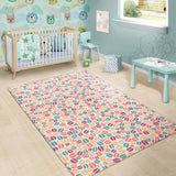 Colorful Coffee Bean Pattern Area Rug