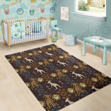 Kangaroo Aboriginal Theme Pattern  Area Rug