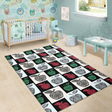 Apple Tribel Pattern Area Rug