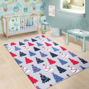 Christmas Tree Star Pattern Area Rug