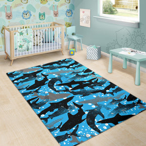 Shark Pattern Background Area Rug