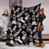Casino Cards Suits Pattern Print Design 05 Premium Blanket