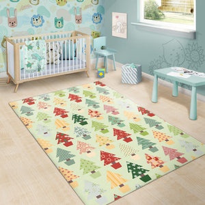 Christmas Tree Pattern Backgroind Area Rug