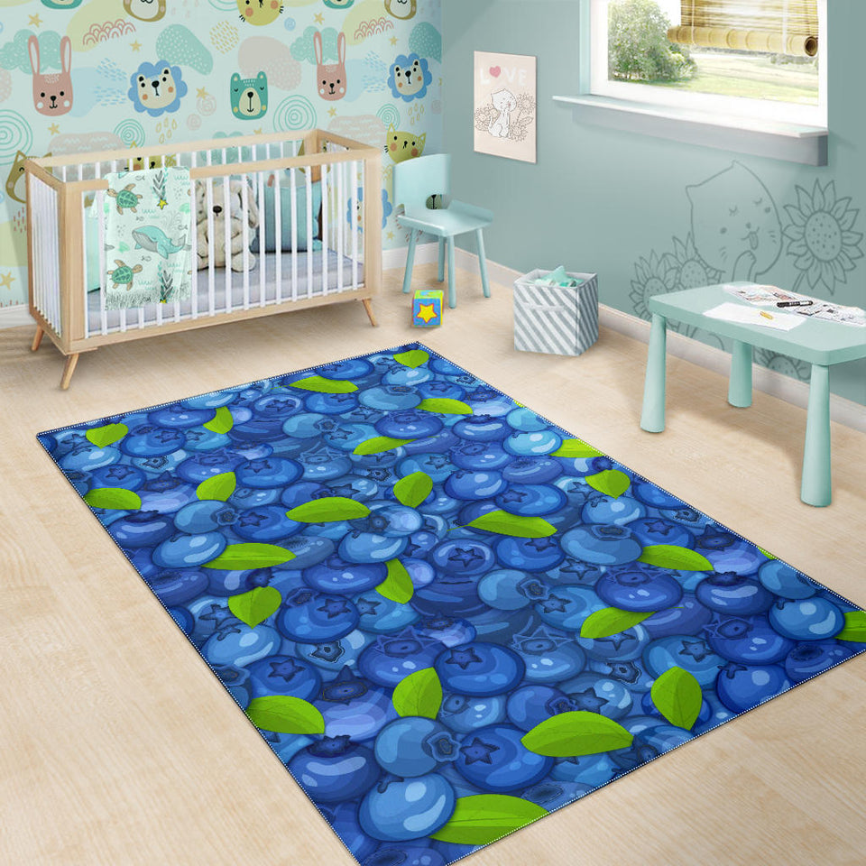Blueberry Pattern Background Area Rug