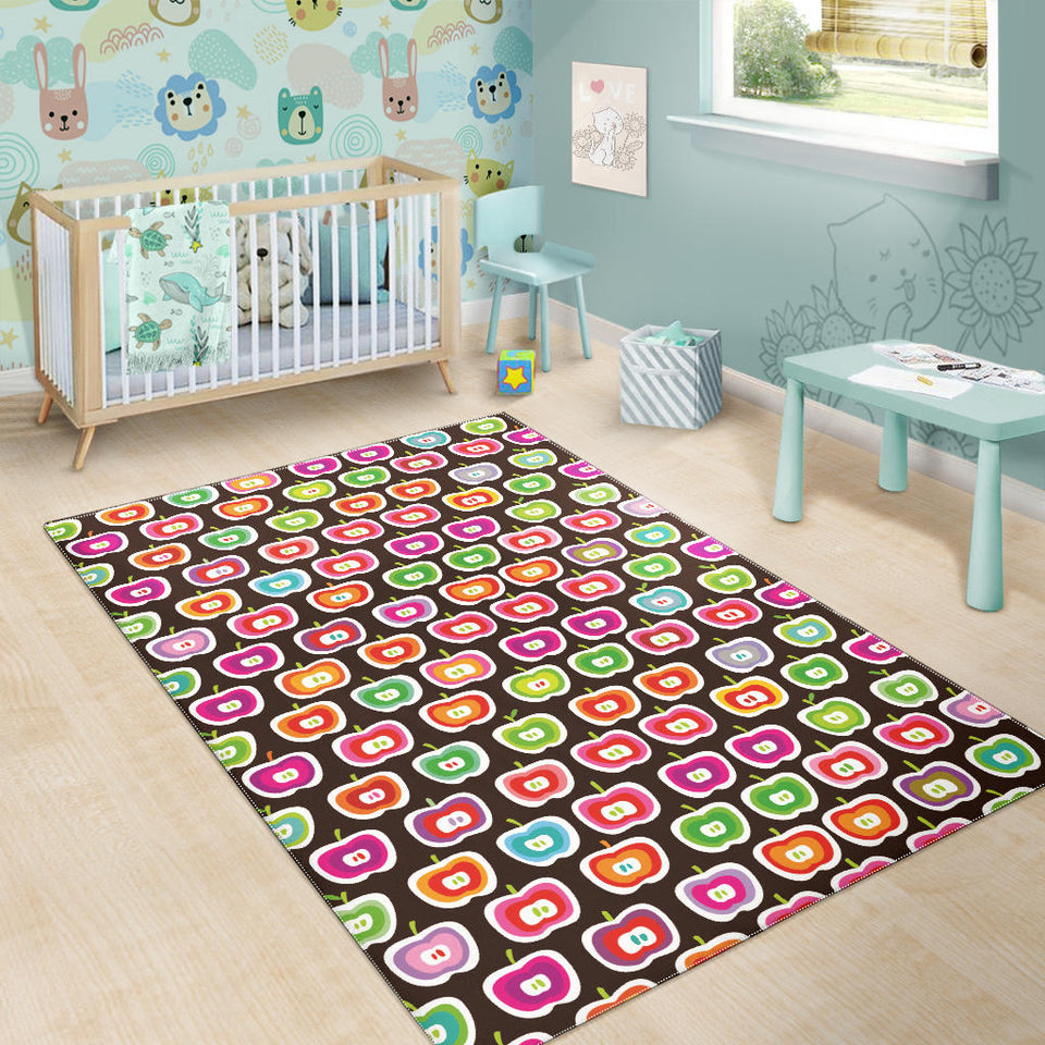 Colorful Apple Pattern Area Rug