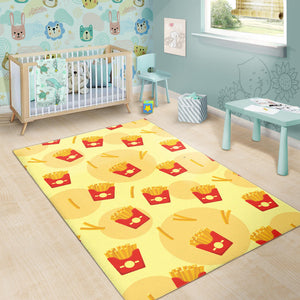 French Fries Pattern Background Area Rug