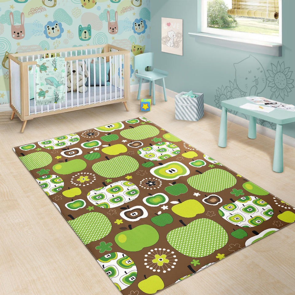Green Apple Pattern Area Rug