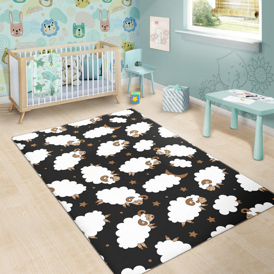 Cute Sheep Pattern Area Rug