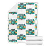 Camera Pattern Print Design 02 Premium Blanket