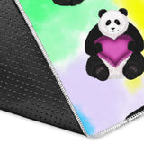 Panda Cute Heart Pattern Area Rug