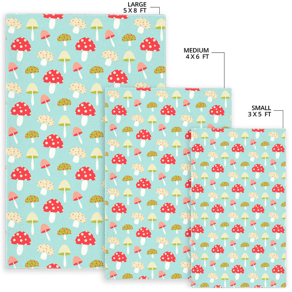 Mushroom Pattern Background Area Rug
