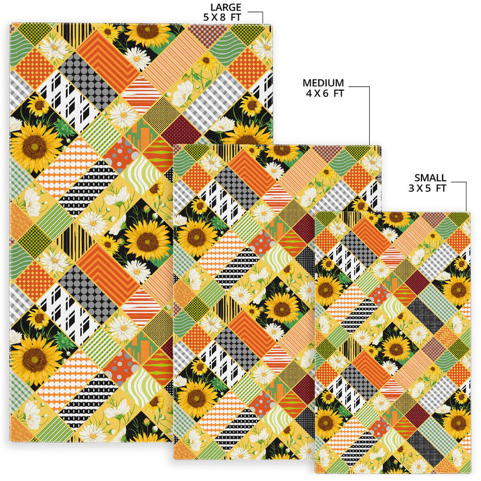 Sunflower Pattern Area Rug